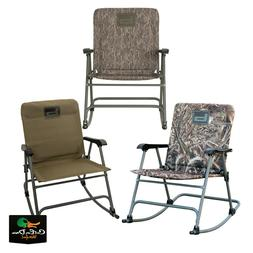 NEW BANDED GEAR FOLDING ROCKING CHAIR - PADDED CAMP CHAIR CA