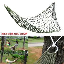 Nylon Rope Mesh Net Hammock Hanging Travel Sleep Bed Swing O