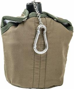 CANTEEN Olive Green 32oz Aluminum Cover Cup Clip Hunting Cam