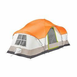 Tahoe Gear Olympia 10 Person 3 Season Camping Tent, Orange a