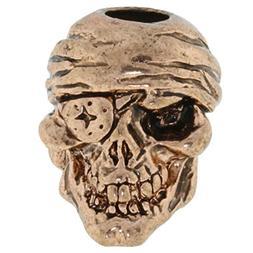 Jig Pro Shop One-Eyed Jack Skull Paracord/Lanyard Bead