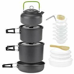 Open Fire Cookware Camping Cookset, Outdoor Gear Supplies 10