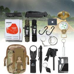 Outdoor 18 In 1 SOS Emergency Survival Gear Hiking Pack Camp