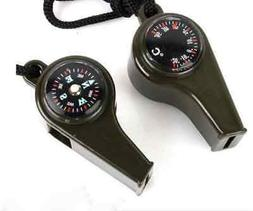 Outdoor Camping Hiking Emergency Survival 3in1 Gear Whistle