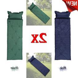 Outdoor Camping Self-Inflating Air Mat Mattress Pad Pillow H