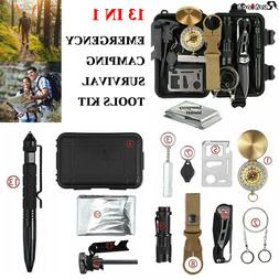 13 In 1 Emergency Survival Kit Outdoor Camping Hiking Tactic