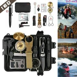 13 In 1 Outdoor Survival Kit Camping Emergency Gear Tactical