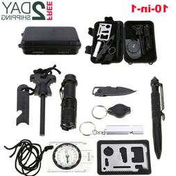 Outdoor Emergency Survival Gear Kit Camping Tactical Tool Se