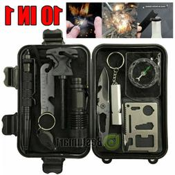 Outdoor Emergency Survival Gear Kit Set Camping Tactical Too