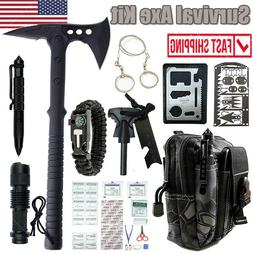 Outdoor Survival Emergency Gear Set Tactical Camping Axe Hat