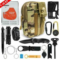 Outdoor Survival Gear Kit Camping Fishing Hiking Tools Emerg