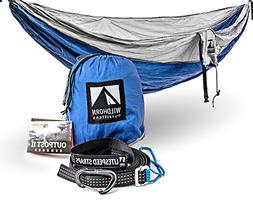 Outpost Double/Single Camping Hammock With 11' Tree Straps