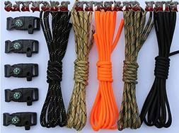 X-cords Paracord Bracelet Kit For Prepper with Fire Starter