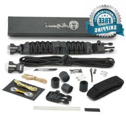 Survival Paracord Bracelet Emergency Tactical Survival Gear