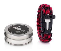 White Moose Equipment Paracord Bracelet Emergency Whistle, F