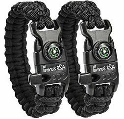 A2S Protection Paracord Bracelet K2-Peak Camping Gear Surviv