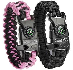 A2S Survival Paracord Bracelet K2-Peak – Survival Gear Kit