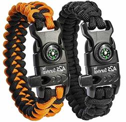 A2S SURVIVAL Paracord Bracelet K2-Peak Series – Survival G