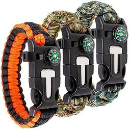 maxin Paracord Bracelet Kit Set of 3 for Outdoor Survival, 9