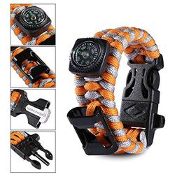 Elephant Outdoor Paracord Bracelet - 4 Colors 3 Sizes Campin