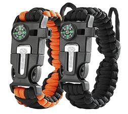 URToys Paracord Bracelet  Tactical and Survival Gear Kit Adj