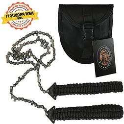 Paracord Pocket Chainsaw 36 Inch Long Chain. Best Compact Fo