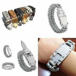 Paracord Rope Bracelet Survival Bracelets Multitool Gear Tac