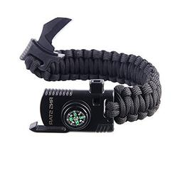 Paracord Survival Bracelet 500 LB - Hiking Gear Travelling C