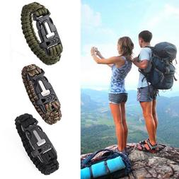 Paracord Survival Bracelet Braided Rope Tactical Wrist Band