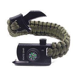Paracord Survival Bracelet 500 LB - Hiking Gear Travelling C