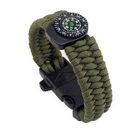 Outdoor Sports Paracord Survival Bracelet Rope Compass Start