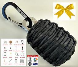 PREP2GO Paracord Survival Grenade Keychain -Military Grade P