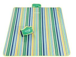 PICNIC BLANKET OVERSIZED 80'' x 80'' Sand Proof Beach Mat fo