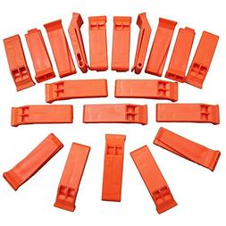 Plastic Floating Orange Whistle for Boats, Raft, Marine Emer
