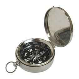 Armor Venue Pocket Compass with Lid Chrome Finish Outdoor Ca