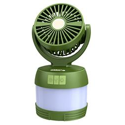 ENKEEO Portable 4-in-1 LED Camping Lantern Ceiling Fan and P