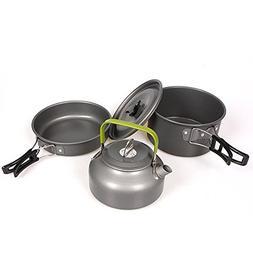 Oceanheart Portable Camping Cookware Set Camping Pots Alumin