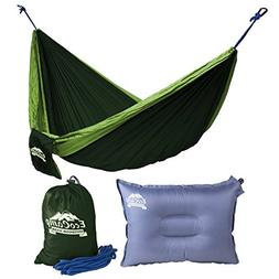 EcoCamp Portable Camping Hammock Single & Double - Lightweig