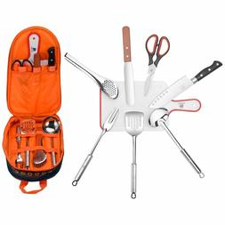 Portable Camping Outdoor Kitchen Tools Set Cookware Barbecue