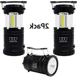Gold Armour 2 Pack Portable LED Camping Lantern Flashlight w