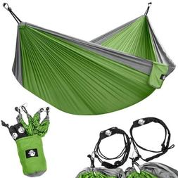 Portable Double Hammocks for Hiking Travel Backpacking Beach