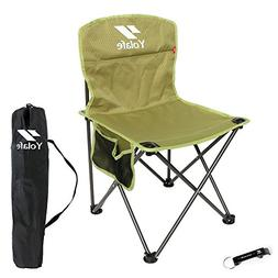 Portable Camping Chair armless Lightweight Folding Chair wit