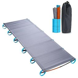 Portable Folding Single Camp Bed Aluminium Alloy Travel Tent