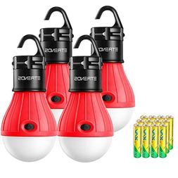 E-TRENDS 4 Pack Portable LED Lantern Tent Camp Light Bulb fo