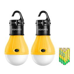 E-TRENDS 2 Pack Portable LED Lantern Tent Camp Light Bulb fo
