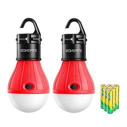 E-TRENDS 2 Pack Portable LED Lantern Tent Camp Light Bulb fo