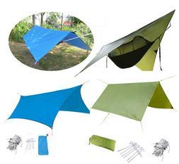Portable Lightweight Camping Tent Tarp Shelter Mat Hammock C