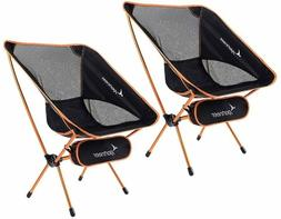 Portable Lightweight Folding Camping Chair,2-Pack for Backpa