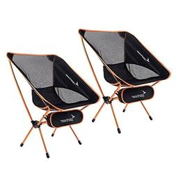 Sportneer Portable Lightweight Folding Camping Chair, 2-Pack