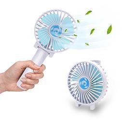 HENGQIANG Portable Mini Fan, Folding Handheld Small Fan, Bui